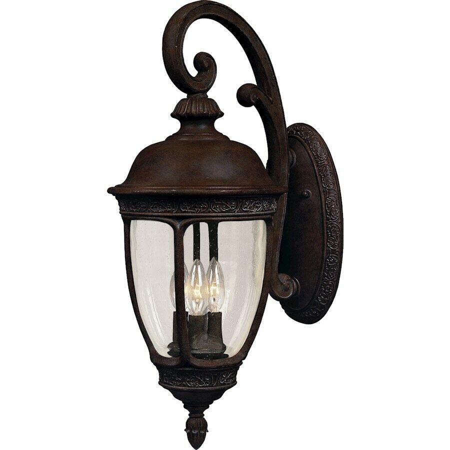 Maxim Perilla Hill fundido de 3 Luz Exterior Parojo Linterna Sienna - 3465 CdSe
