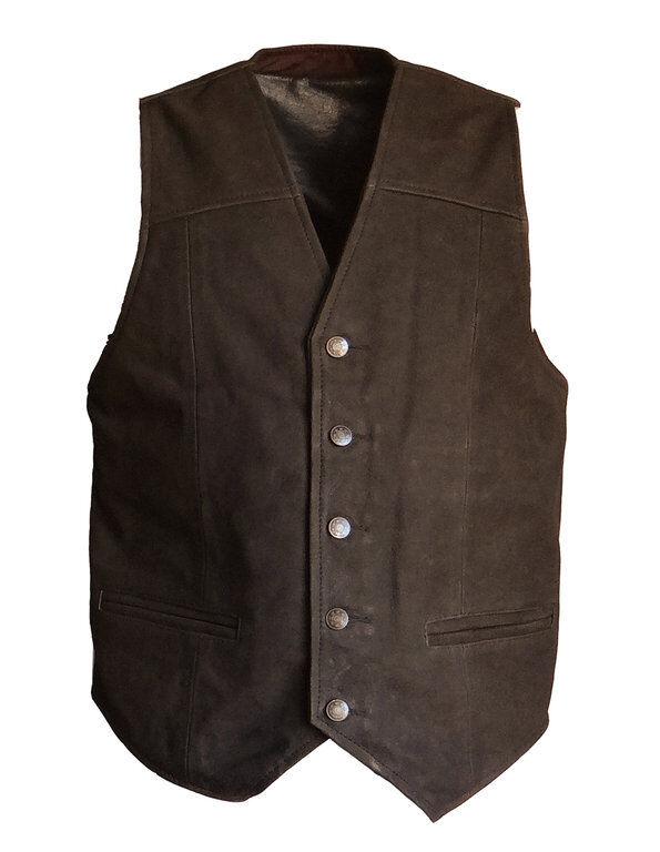 Herren Weste Lederweste Herbert Nubuk Leder Leder Leder braun Größe XL | Das hochwertigste Material  e66090