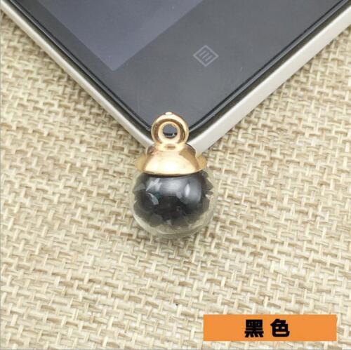 20pcs Coloré Boule en Verre Pendentif Perles Cristal Bijoux Boucles d/'oreilles À faire soi-même Accessoires