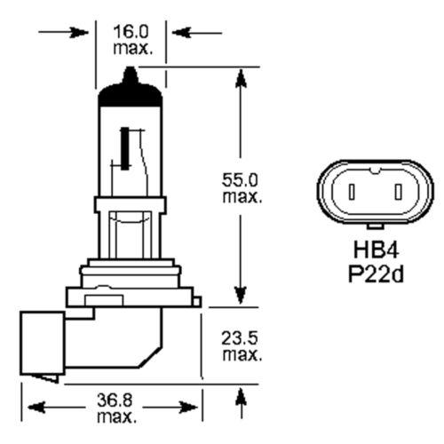 9006 Xenon White HB4 55w Halogen Fog Light Headlight Bulbs 6000k PAIR