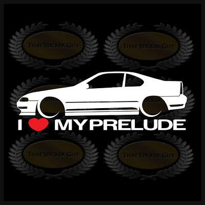 I Heart My Prelude Sticker Love Honda Slammed JDM Japan Coupe Low Car | eBay