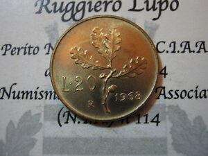 Der-Republik-Italienisch-20-Livre-1968-FDC-Bewertet-von-Serie-Minze