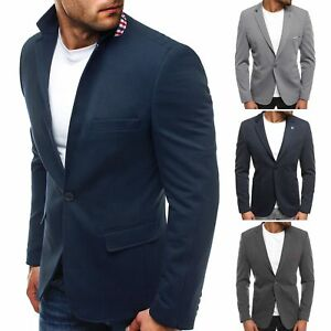 check out b8906 7490d OZONEE 5504 Herren Sakko Klassische Sweatjacke Business ...