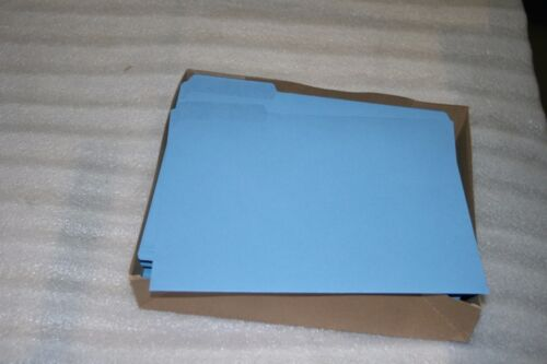 letter size box qty H163BE Smead Interior File Folder 1//3 cut tab 100 Blue
