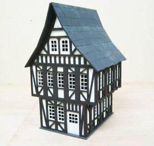 28MM-Fantasy-Tudor-Style-House-Laser-Cut-2mm-MDF-Kit-T3