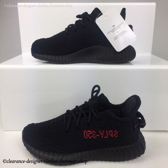 c6965d902a8ce adidas Yeezy Boost 350 V2 Infant Trainers in Black   Red Bred Shoes Kids UK  8.5 for sale online