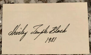 SHIRLEY-TEMPLE-HAND-SIGNED-3X5-INDEX-CARD-Signed-PSA-PSA-DNA