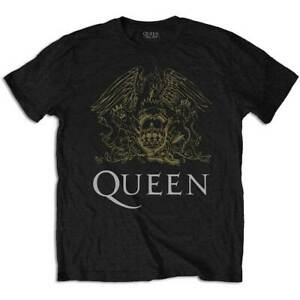 QUEEN-Crest-Mens-T-Shirt-Unisex-Tee-Official-Licensed-Band-Merch