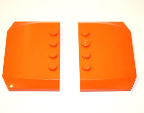 2x LEGO® Dach Motorhaube Wedge Platte 4x6 52031 NEU orange