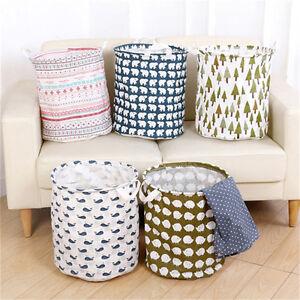 faltbar baumwolle leinen waschen kleider w sche korb aufbewahrungsschachtel ebay. Black Bedroom Furniture Sets. Home Design Ideas