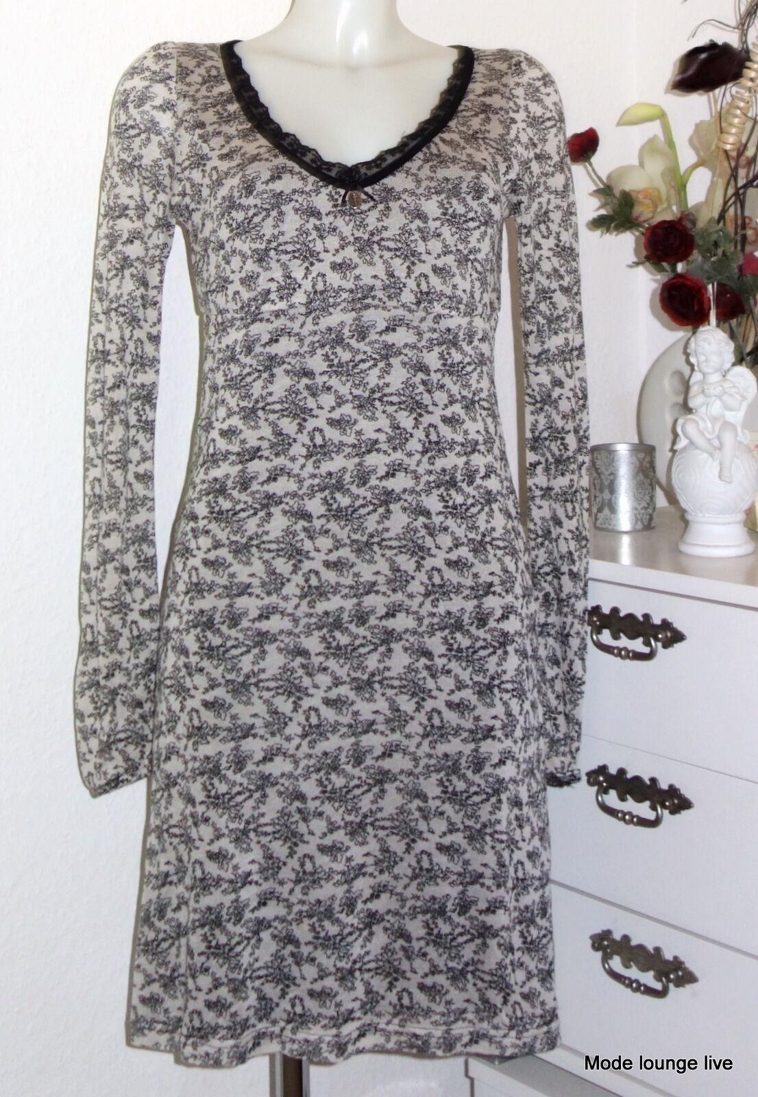 Vive Maria Kleid schwarz schwarz Blaumen weiß Mellow Flowers Dress offWeiß 31716