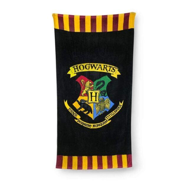 Harry Potter Noir /& Blanc Imprimé Serviette De Plage Tout Neuf Cadeau