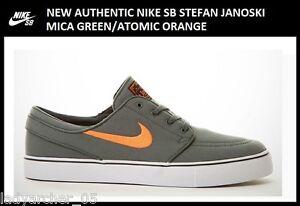 New-Authentic-Nike-SB-Stefan-Janoski-Mica-Green-Men-039-s-size-6-5-Women-039-s-size-8