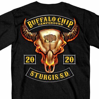2020 Buffalo Chip Campground T Shirt Buffalo Skull Sturgis ...