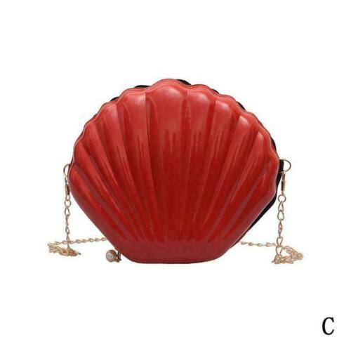 Women Novelty Laser Shell Shape Cross-body Chain Shoulder Bags L6E1