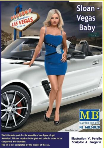 Sloan Masterbox 1:24 Scale Figure Model Kit Vegas Baby MAS24020