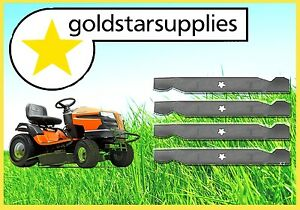 2-x-sets-of-42-034-blades-for-selected-Husqvarna-Craftsman-Ride-On-Mowers