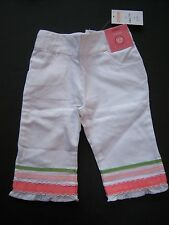 NWT Gymboree Celebrate Spring Tulip Garden 12-18 White Ribbon Trim Crop Pants