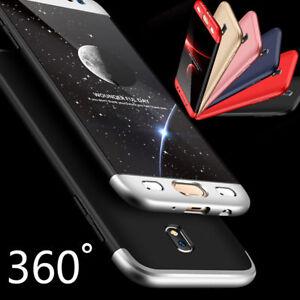 Samsung-Galaxy-J7-2017-J730F-360-Cover-Etui-Coque-Housse-Film-Verre-Trempe