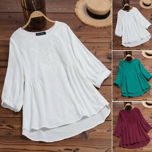 ZANZEA-Women-Summer-O-Neck-Embroidered-Blouse-Ladies-Loose-Tops-Shirt-Plus-Size