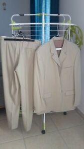 Costume homme beige - taille 42 - Jules - TRES BON ETAT