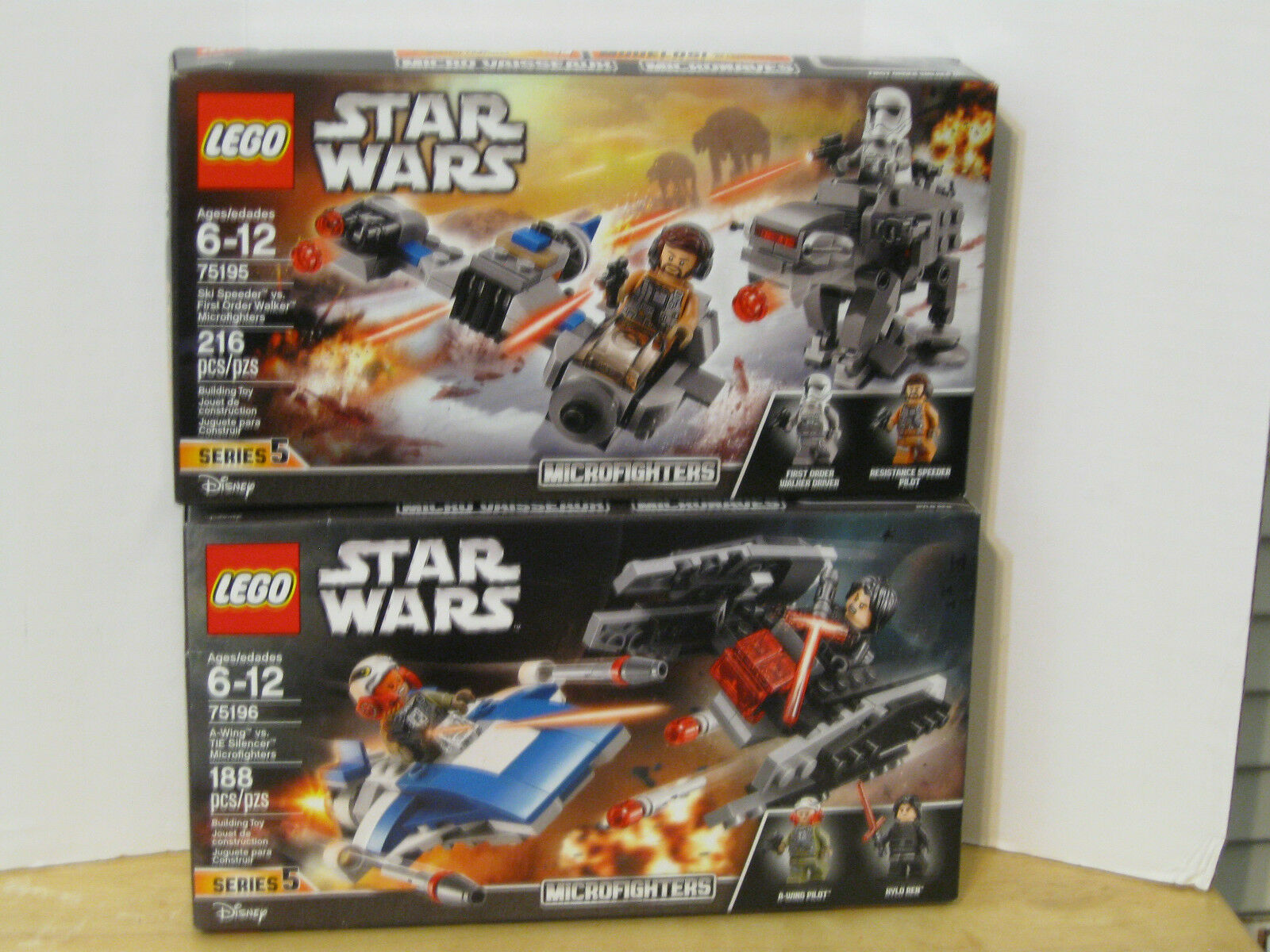 NEW Lego Star Wars The Last Jedi Microfighter Set 75195 75196 IN HAND NOW