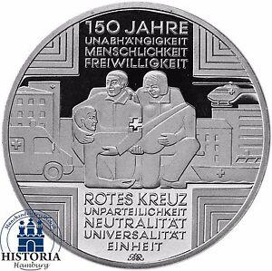 Deutschland-10-Euro-Silber-150-Jahre-Rotes-Kreuz-Gedenkmuenze-2013-Spiegelglanz