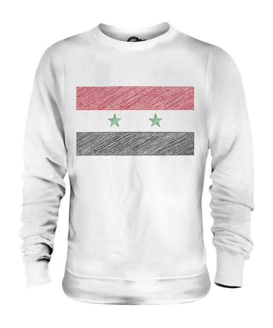 SYRIA SCRIBBLE FLAG UNISEX SWEATER  TOP GIFT SURIYAH SYRIAN
