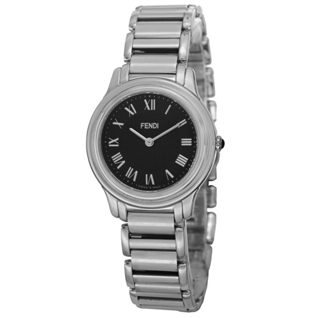 Fendi Women's Classico Black Dial Stainless Steel Swiss Quartz Watch F251031000