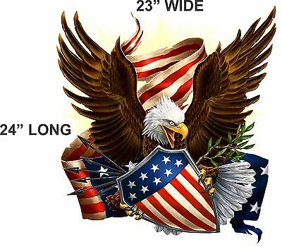 """American Flag Soaring Eagle 5/"""" Decal Free Shipping"""