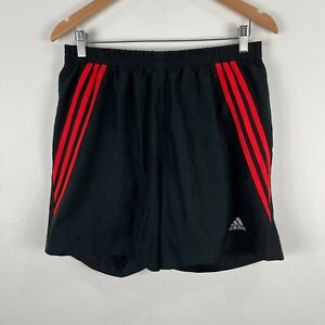 Adidas-Mens-Shorts-Large-Black-Elastic-Waist-Drawstring