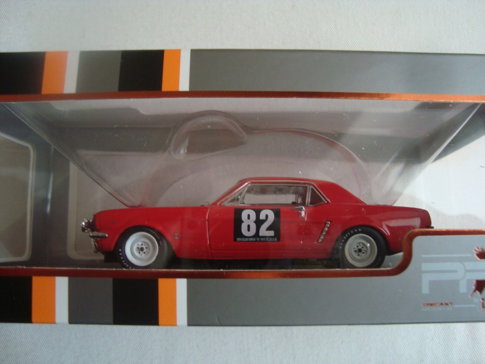 Ixo prd 309 ford mustang tour de france 1964 new in box plexiglas 1   43