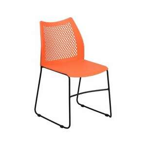 Image Is Loading Flash Furniture Stacking Chairs Rut 498a Orange Gg