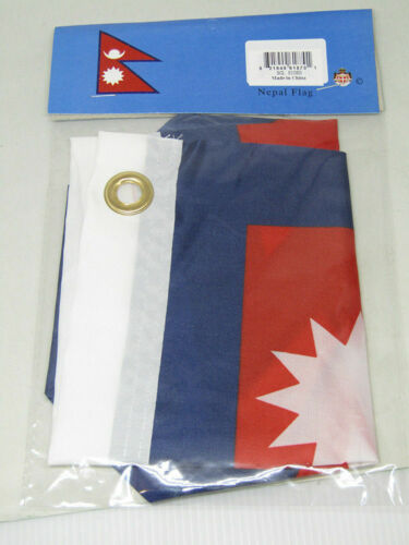 """12x18 12/""""x18/"""" Country of Nepal Boat Motorcycle Polyester Flag Grommets"""