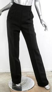 Collection Wide Ebony Misha S Black Leg Kvinder Ny Mara Bukser Kjole Pant dXqq7r