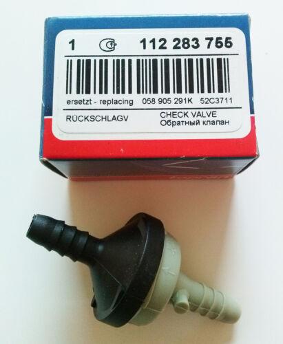 1X Tropan 112 283 755 Válvula de Retención 058 905 291k 52c3711 Audi Volkswagen