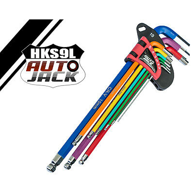 Long Ball-End Hex Key Set 9Pc Color-Coded