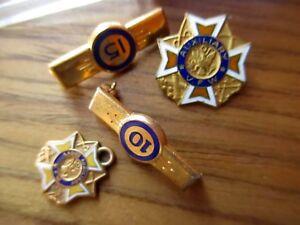Lot-4-VFW-Ladies-Auxiliary-pins-amp-Pendant