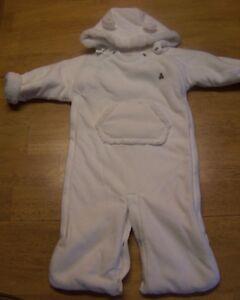 899a103ec Image is loading NWOT-Baby-Gap-IVORY-Fleece-Snowsuit-Bundler-Bunting-