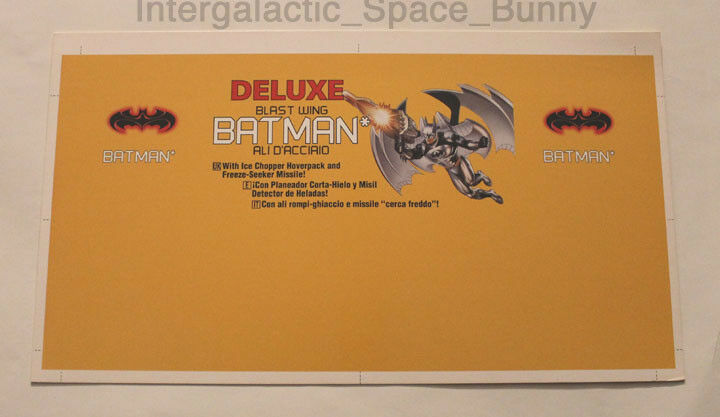 Batman & robin - 1997 kenner flügel batman beweis karte pre - production
