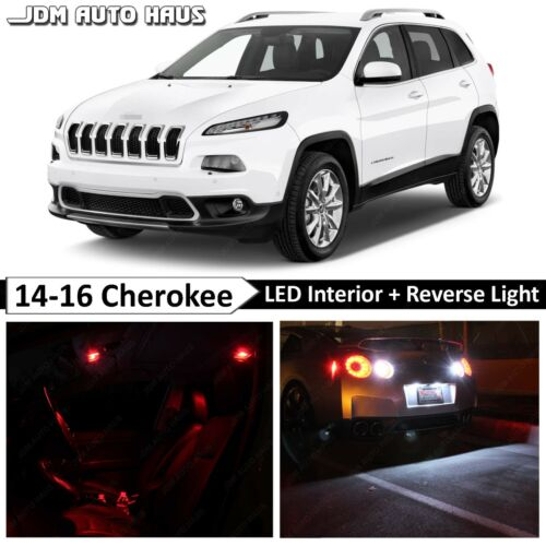 19x Red Interior Tag Reverse LED Lights Bulbs Fits JEEP Cherokee KL 2014-2017