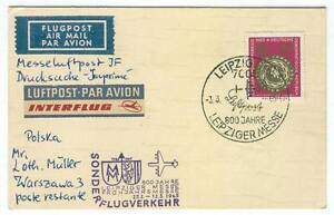 Cover E32 Germany 1965 Leipzig airmail