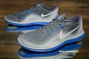 Nike Flex 2017 RN Grey Blue 898457-013 Running Shoes Men's - Multi Comfortable