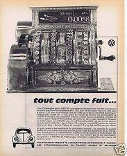 Publicité Advertising 066 1962 Volkswagen tout compte fait coccinnelle