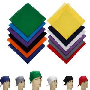 100-Cotton-Sport-Outdoor-Plain-Bandana-Head-Wrap-Handkerchief-Solid-Scarf-Mask