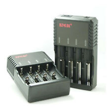 NEU intelligent multi Ladegerät Battery Charger für 4x 18650, 2x 26650 3.7V Akku