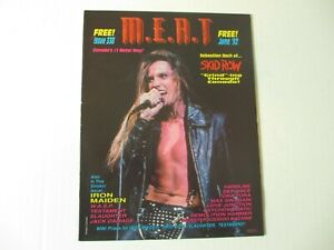 SKID-ROW-metal-magazine-M-E-A-T-June-1992-IRON-MAIDEN-Slaughter-WASP-Lee-Aaron