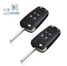 2 Uncut Key Remote Start Keyless Entry Transmitter For Chevy 2010-2014 Equinox