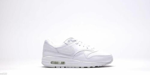 NEW Nike Air Max 1 Essential Kids  Girls Boys Junior  Shoes Trainers All White