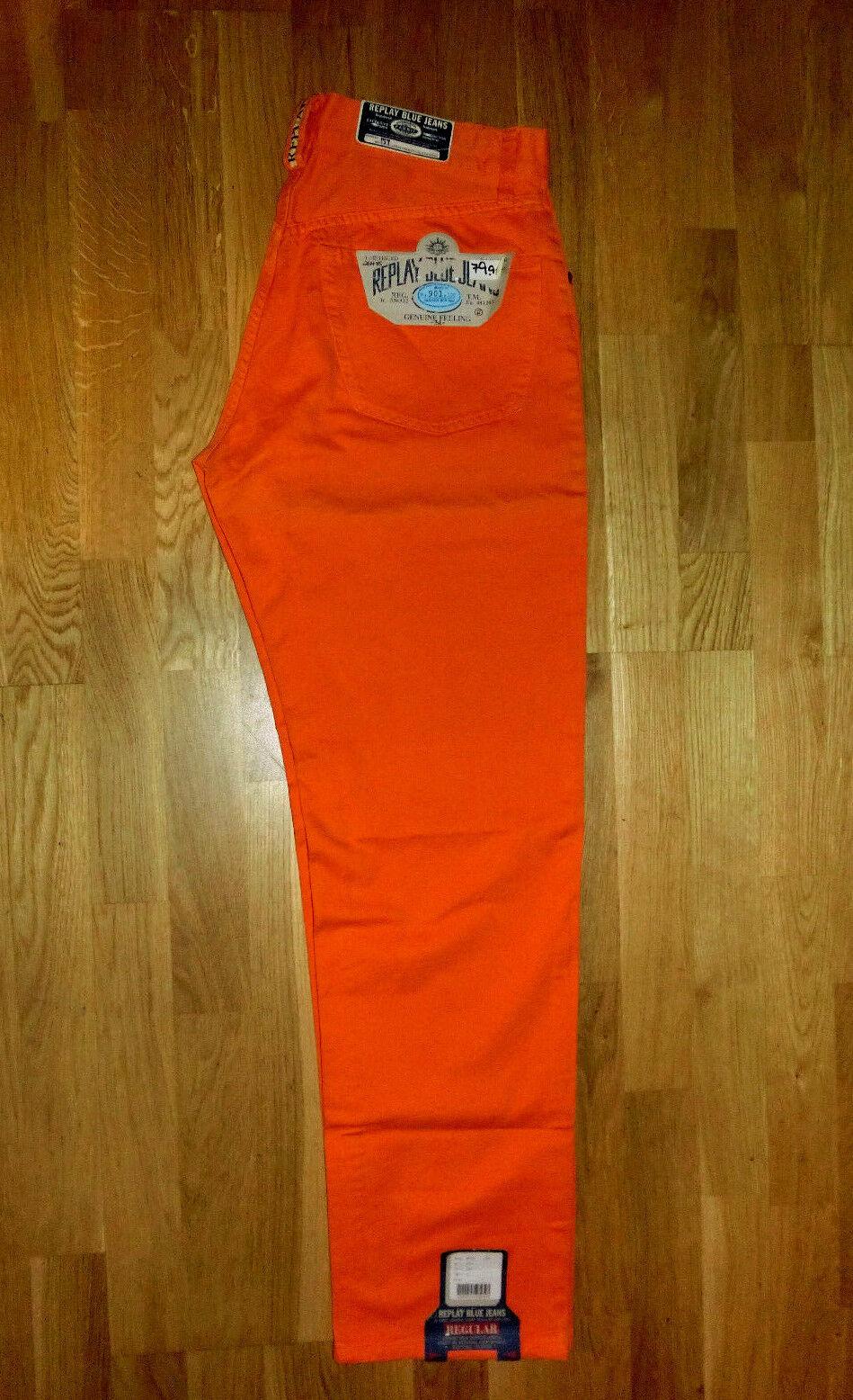 REPLAY  JEANS  NEU  901 901 901  KLASSISCH GERADES BEIN  Orange FARBE .....2 63afca